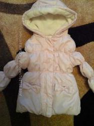 Нежно-розовая куртка M&S, 2-3года, брючки в подарок.
