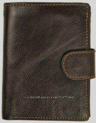 Уникальный по вместимости мужской кошелёк натуральная кожа 13. 5 х 10 см