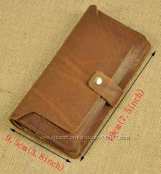 Уникальный супер кошелёк 18. 5 х 9. 5 кожа crazy horse портмоне бумажник