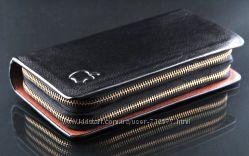 Мужской клатч Apple кошелёк барсетка сумка цвет черного шоколада