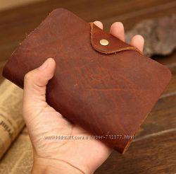 Уникальный супер кошелёк 15х10 кожа crazy horse портмоне бумажник