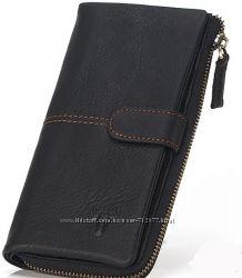кошелёк - клатч из плотной натуральной кожи с восковой пропиткой