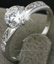 2 модели скидка кольца с цирконами класса ААА серебро 925 16. 5 - 17. 5