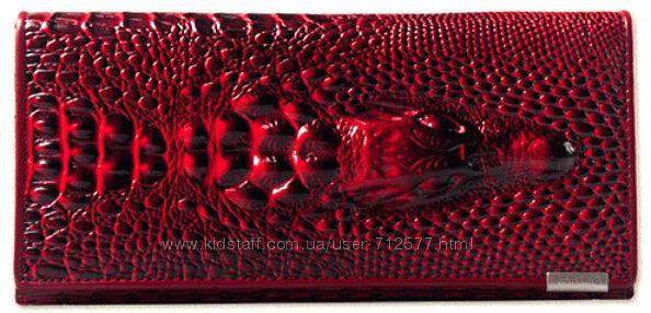 Кошелёк SHU WOLF натуральная кожа под крокодила 3 расцветки