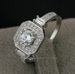 Распродажа 3 модели. Кольца с сияющими крупными цирконами серебро 925