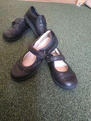 Кожаные туфли в школу Clarks