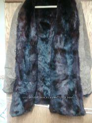 Кожаная куртка на меху  кролика до 1, 12 за 250грн