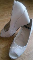 Кожаные туфли Vagabond Швеция 38р одевались раз как свадебные