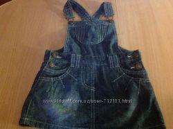 Фирменный джинсовый сарафан. Blue Seven Kids  на 3-5 лет новый