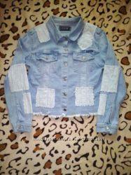 Джинсовая курточка летняя весенняя М пиджак