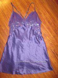 Новый красивый пеньюар ночнушка ночная рубашка с кружевом