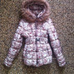 Крутая  Куртка  с Шикарным Натуральным Мехом  можно подростку