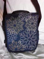 Сумка для ноутбука до 12  дюймов синяя в цветок