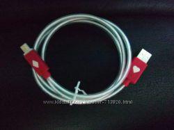 Кабель USB - micro USB с красной подсветкой