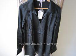 Блуза черная натуральный шелк Франция