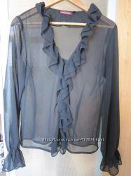Блузка шифоновая модные воланы импорт