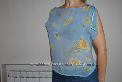 Блузка из натуральной ткани невесомая S-M