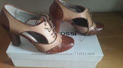 Полуоткрытые  кожаные туфли gino rossi Италия