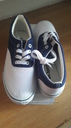 Кеды новые сине-белые