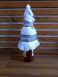 Вечная новогодняя елочка чехол на бутылку