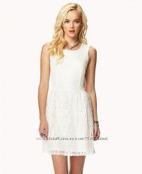 Нежное белое кружевное платье, р-p. М