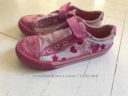 Кеды кроссовки туфли Кларкс Clarks на девочку 17. 5 см стелька