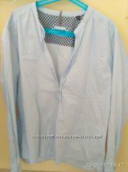 Нова котонова сорочка у смужку, ніжна, marc o&acutepolo