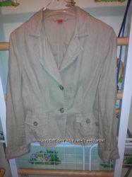 Брендовый лянной пиджак ESPRIT