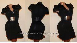 Платье короткое, черное s-m