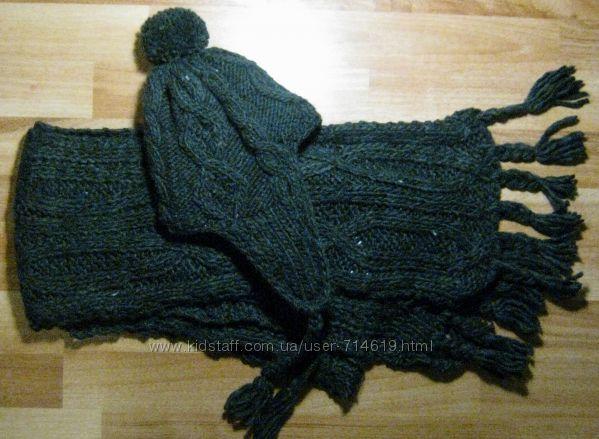 Теплый комплект шапка и шарф Германия Австрия