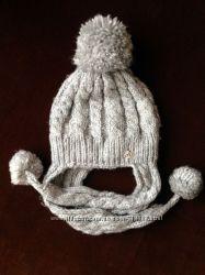 Теплая шапка на 7-9 лет