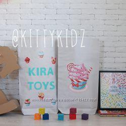 Крафт мешки для хранения игрушек