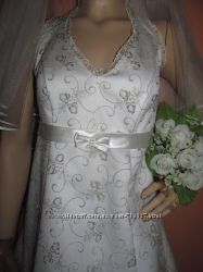 красивое платье  Джульетта-на атласе арабский шифон