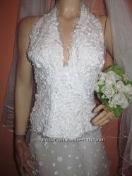 свадебнь1й костюм-шифоновая юбка и лиф  -клумба