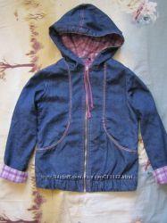 Куртка джинс на флисе на 128-140см