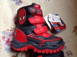 Новые ботинки Mothercare Spidr-men 24 размер стелька 15, 5 см