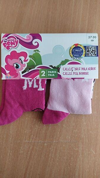 Набор носки детские my litlle pony 2 пары размер 27-30