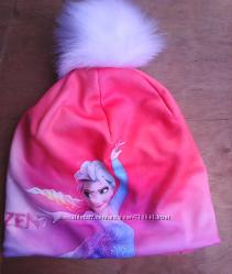 шапка для девочки   на флисе