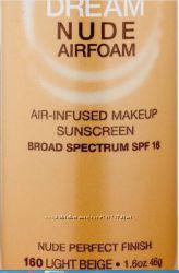 Тональная пенка Maybelline New York Dream Nude Airfoam Foundation, Light Be