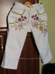 Капри бриджи белый джинс размер 8 состояние новых
