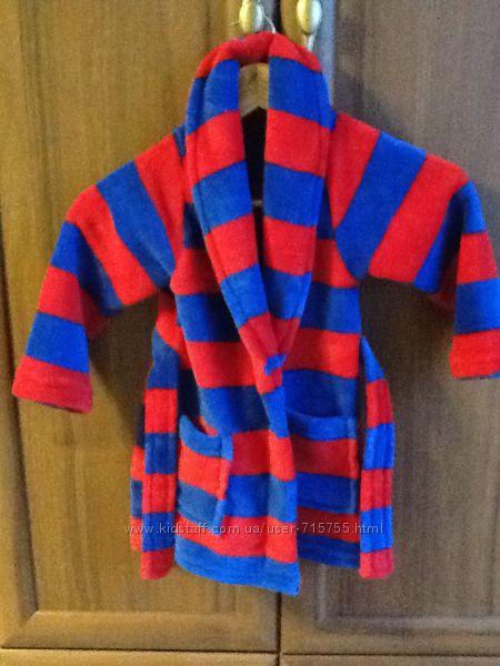 Махровый яркий халат на 2-3 года состояние нового