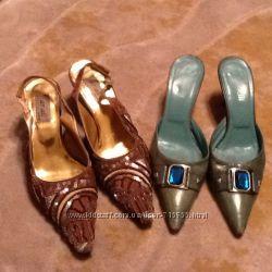 Туфли лодочки с открытой пяткой кожа размер 36 37