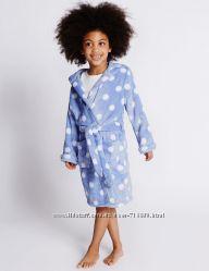 Плюшевый, махровый халат Marks&Spencer для девочки, 4-5 лет