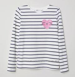 Реглан H&M на девочку, размер 4-6, 6-8 лет