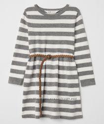 Вязаное платье H&M для девочки, размер 4-6, 6-8, 8-10 лет. Новинка