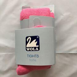 Детские махровые колготы WOLA, рост 104-110 см, розовые