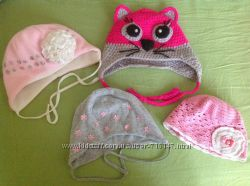 Красивые шапочки для малышки