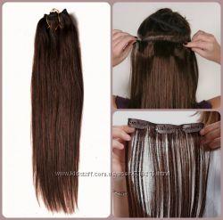100  натуральные волосы на заколках