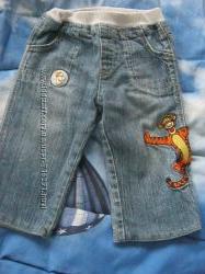 Прикольные джинсы Disney на подкладке на 6-12мес