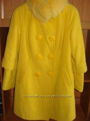 Кашемірове зимове пальто 46розмір